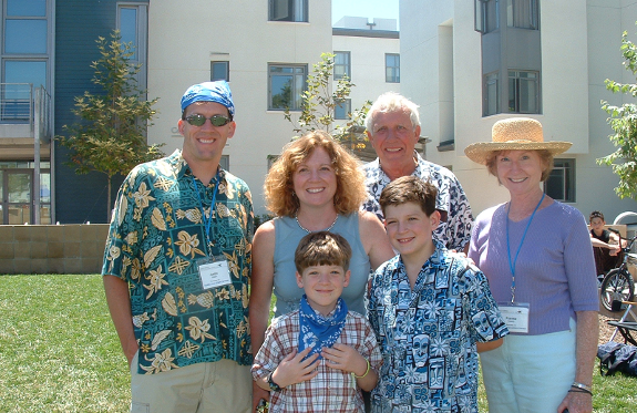 The Welshes at the UCSB Family Vacation Center (Photo courtesy of Kathy Welsh)